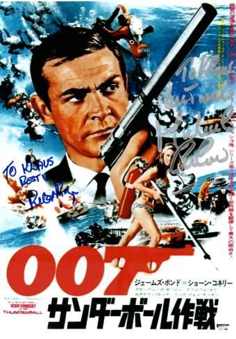 James Bond Multi Autogramme